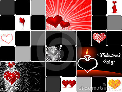 Valentine s day collage