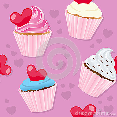 Valentine s Day Cupcakes Seamless