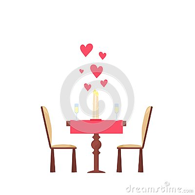 Free Valentine`s Day Decor. Dinner For Couple In Love Dating. Heart, Candle, Champagne Royalty Free Stock Photography - 107371017