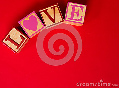 Valentine s Day decoration with the word LOVE
