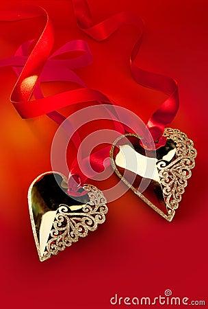 Valentine s Day Golden Heart