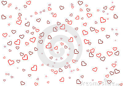 Valentine s Day greeting card with heart on white background
