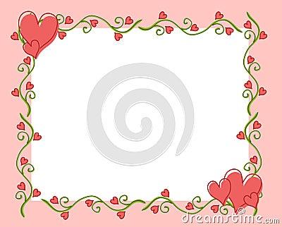 Valentine s Day Heart Flower Vine Frame 2