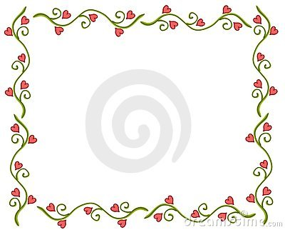 Valentine s Day Heart Flower Vine Frame