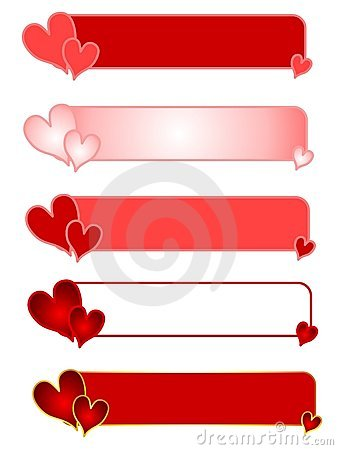 Valentine s Day Heart Logos or Banners