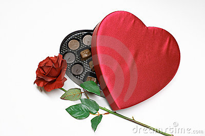 Valentine s Day heart with rose