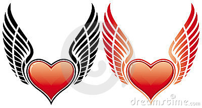 Valentine s Day Heart with wing