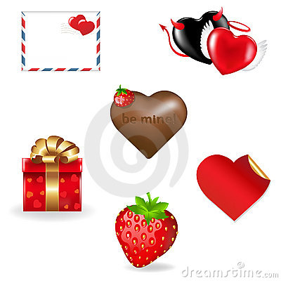 Valentine s Day Icons Collection. Vector