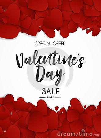 Free Valentine`s Day Love And Feelings Sale Background Design.  Royalty Free Stock Photography - 106052767