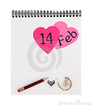 Valentines day notepad