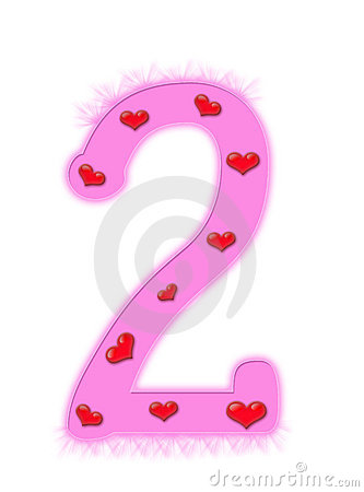 Valentine s day numeral - 2