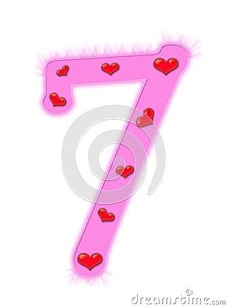 Valentine s day numeral - 7