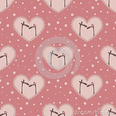 Valentine`s day pattern