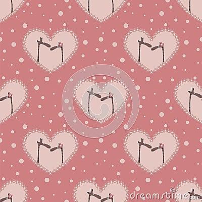 Valentine`s day pattern