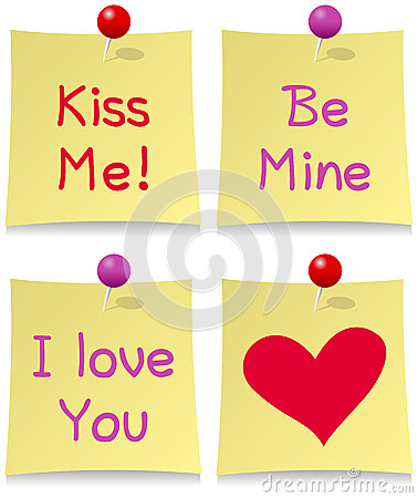 Valentine s Day Post It Set
