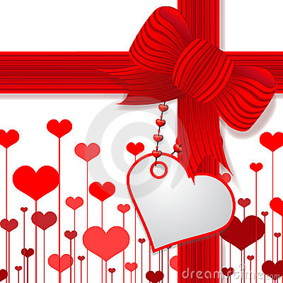 Valentine s day present with red bow