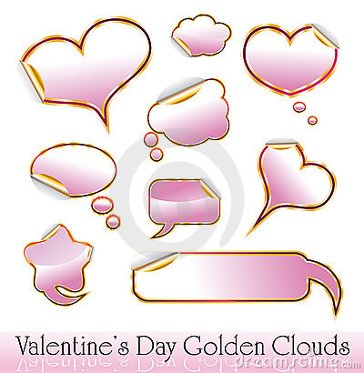 Valentine s Day Red and Gold Hearts
