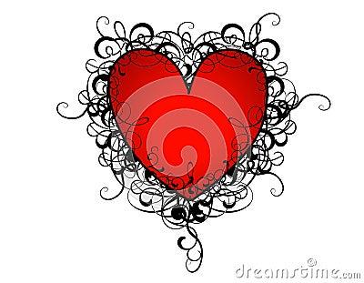 Valentine s Day Red Heart Flourishes