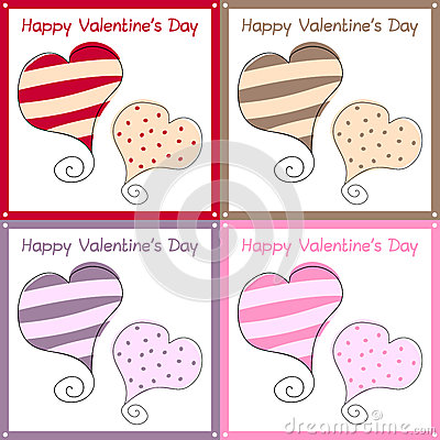 Valentine s Day Retro Cards