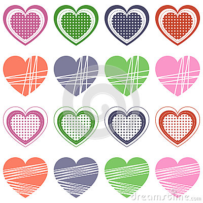 Valentine s Day Retro Hearts Collection