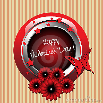 Valentine s Day rounded frame