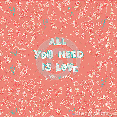 Valentine s Day seamless pattern with place for your text messag