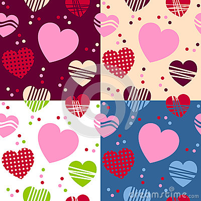 Valentine s Day Seamless Patterns