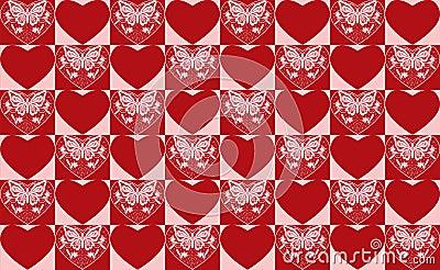 Valentine s day seamlss pattern.