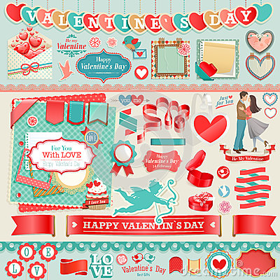 Free Valentine`s Day Set Stock Images - 28740924