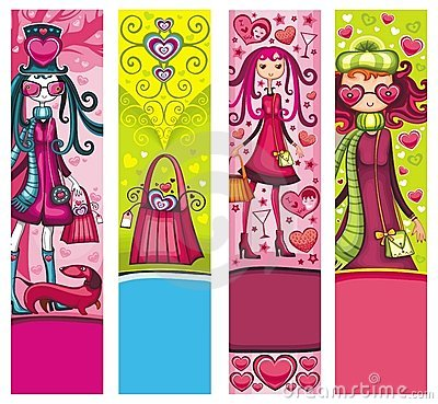 Valentine s day shopping banners