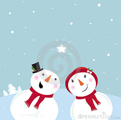 Free Valentine´s Day: Snowman & Snow - Woman Stock Image - 17585021