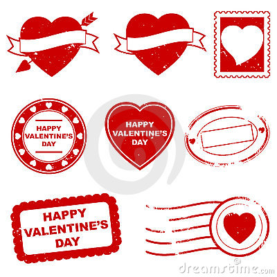 Free Valentine S Day Stamps Stock Photography - 18104892