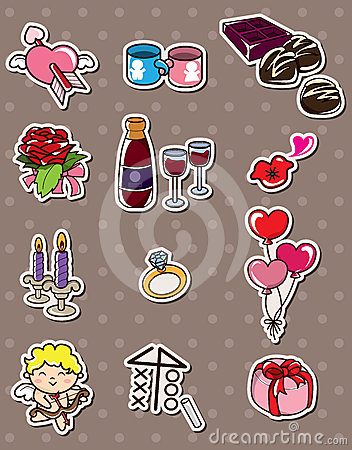 Valentine s Day stickers
