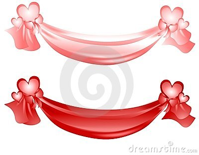 Valentine's Day Swag Ribbons And Bows Royalty Free Stock Photo ...