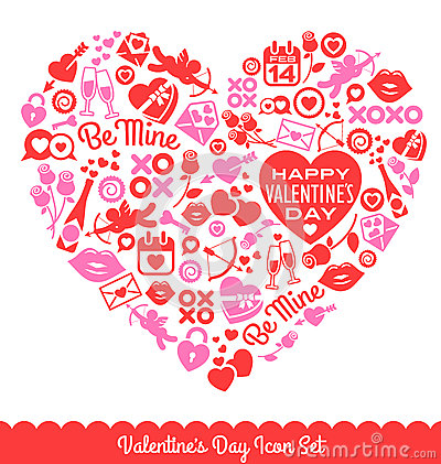 Free Valentine S Day Vector Icons Royalty Free Stock Photography - 63080487
