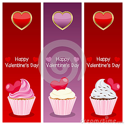 Valentine s Day Vertical Banners