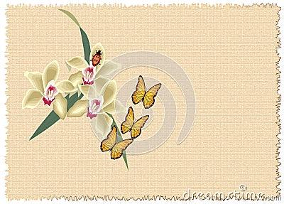 Valentines floral frame