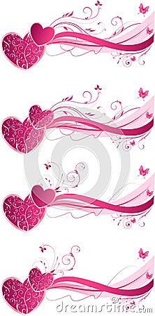 Valentine s floral wave backgrounds