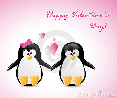 Valentine s Greeting Penguins
