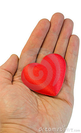 Valentine s heart in a hand