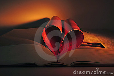 Valentine s heart shaped book