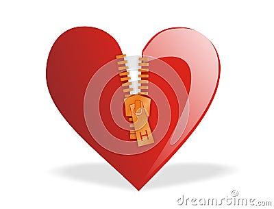 Valentine s - Heart Zipped
