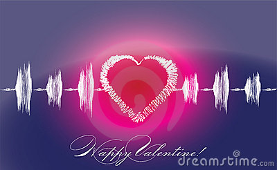 Valentine s lovers heart cardiogram