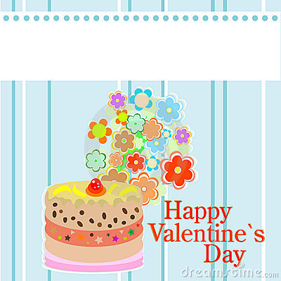 Valentine`s party flowers and delicious cakes