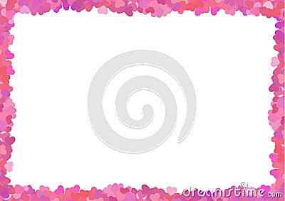 Valentine s pink frame