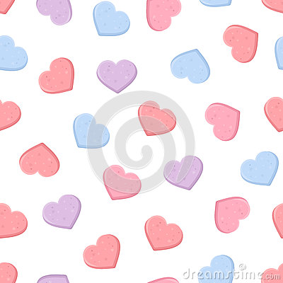 Free Valentine S Seamless Pattern With Colorful Sweetheart Candies. Vector Illustration. Royalty Free Stock Photos - 65484088