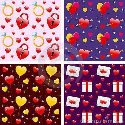 Valentine s Seamless Patterns