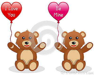 Valentine s Teddy Bear with Balloon