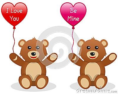Valentine s Teddy Bear with Balloon