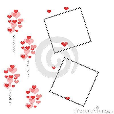 Valentine scrapbook frame